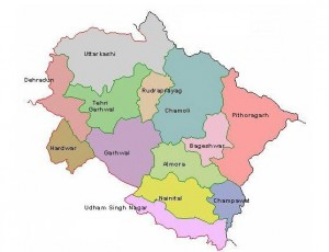 Uttarakhand District Map - www.sidculindustries.com